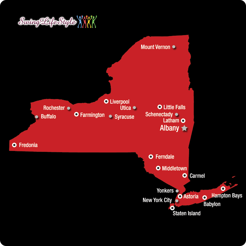 New York Swinger Clubs Map